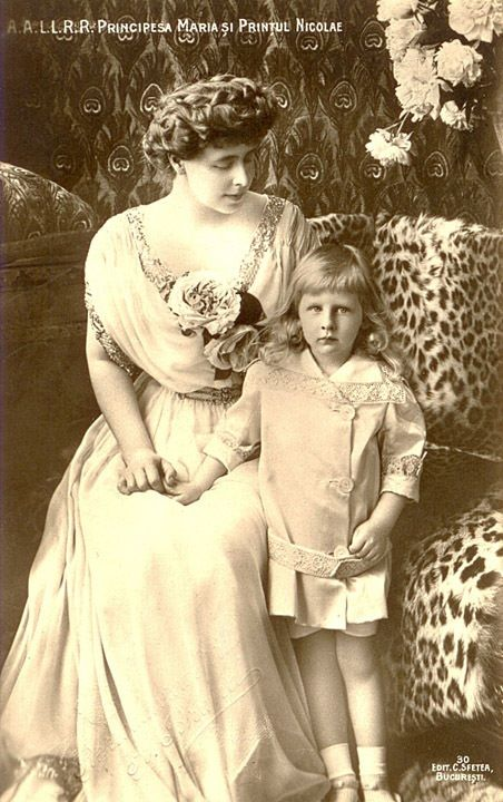Queen Marie with her son, Nicolae, romania