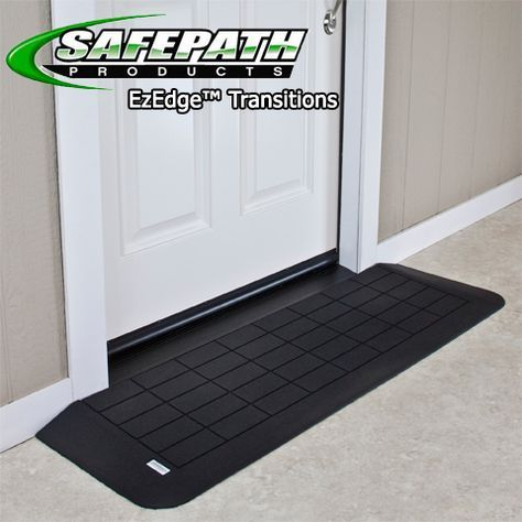 The EZ Edge™ Transition Wheelchair Ramp is an easy solution to solve your Threshold problems! These EZ Edge Threshold ramps easily fit in front of your door or any other vertical barrier you might have. These 100% recycled rubber ramps help you effortlessly transition from one height to another. After all, life is better without tripping hazards and hard to access pathways that block wheelchairs from easy travels.