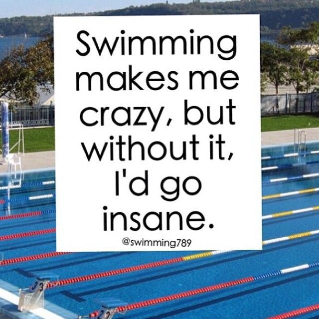 I've gone insane all winter, cause I don't do winter swim and there was no pool to get in.