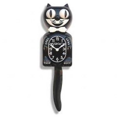 "Classic Black Kit-Cat Clock 15.5"" x 4"" x 2.75"" Enjoy this slice of American pop culture history in your home, office, or classroom. These smiling, tail-wagging clocks are a playful touch on your walls"