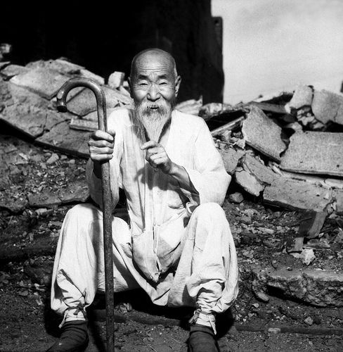 Old Korean Man during the Korean war