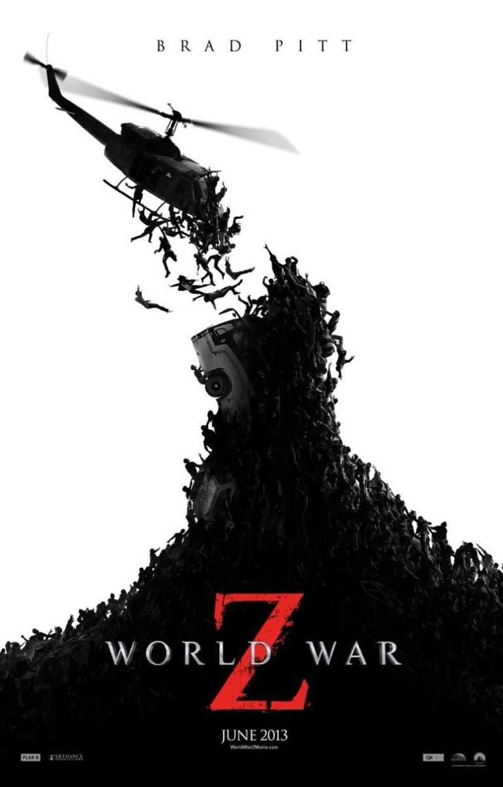 Los 10 mejores posters de película de 2013 Zombie Movies, Scary Movies, Great Movies, Horror Movies, Awesome Movies, Movie Trailers, Film Trailer, Brad Pitt, Poster Print
