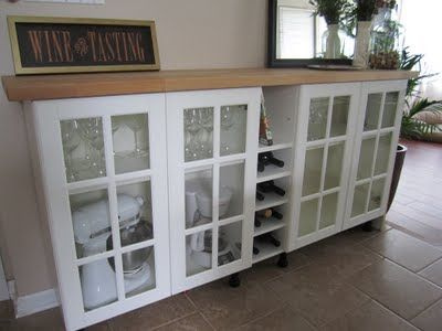 This Is Exactly What I Am Going To Do With That Awkward Bar Space In My Dining Room Build In A
