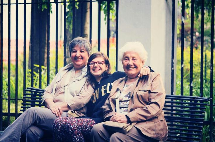 Smiles. Mother, sister and grandmother.