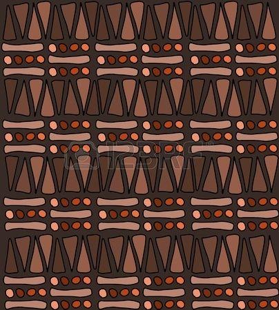 Tribal africain modèle doodle - Texture de fond simples