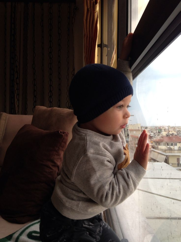 Winter outfit .. Watching outside the window