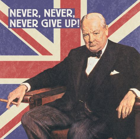 ~ Winston Churchill -- Plucky Brits II Print at Art.com