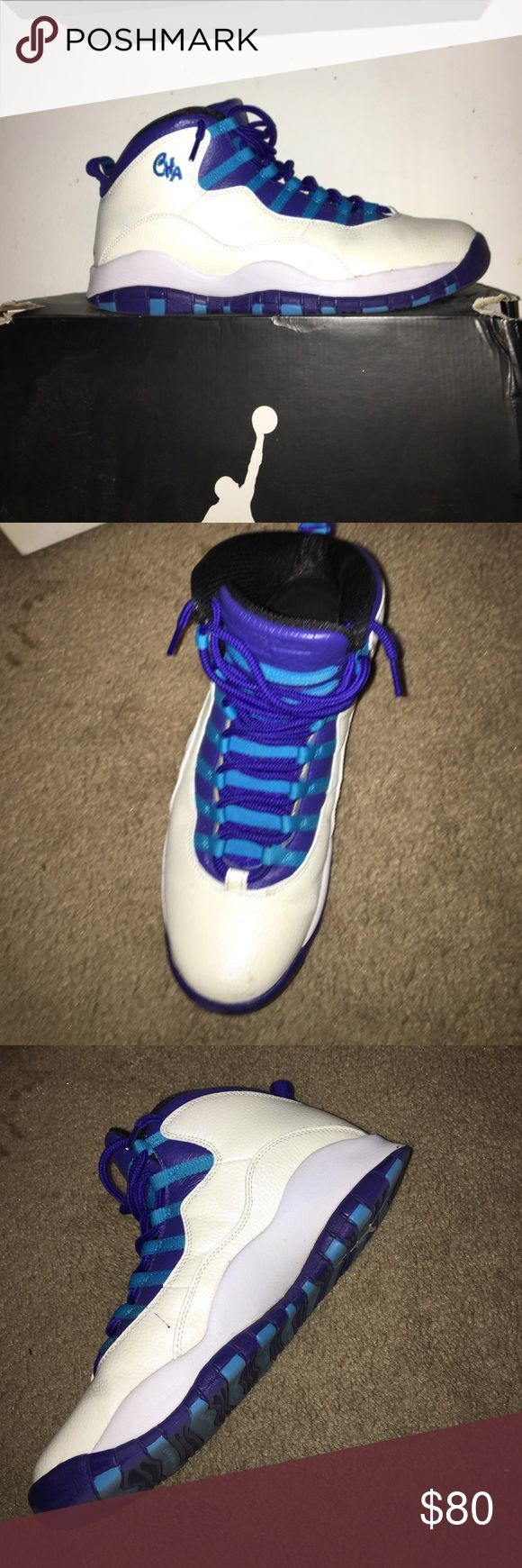 jordan 10 charlotte hornets It's a very great shoe great to wear at basketball games Jordan Shoes Sneakers