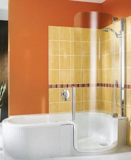 In Your Home: Innovative shower/bath--and innovative marketing