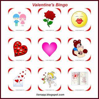 English Freak: VALENTINE'S DAY PART 2 bingo, I spy, tabboo (print...