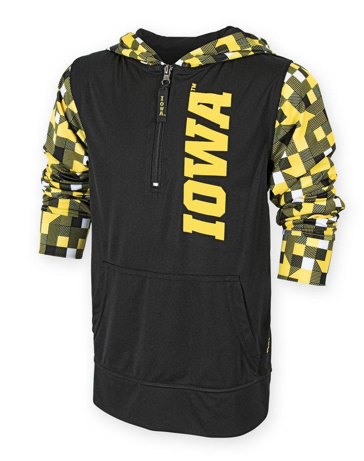 Iowa hawkeyes rucker shirt youth authentic brand