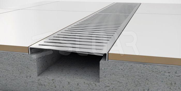 SCOAR - Ralo Linear (aço inox) | Grelhas para área externa (aço inox) | Ralos (aço inox)