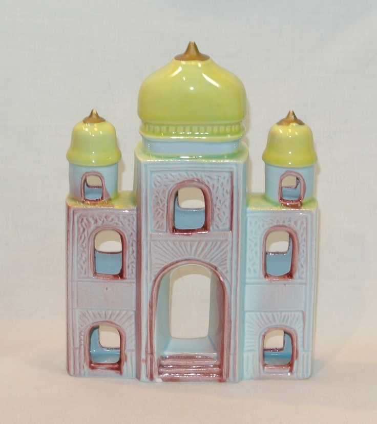 Vintage Aquarium Ornament Ceramic Indian Palace Fish Tank Decoration