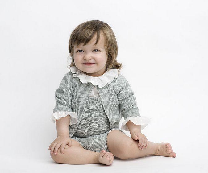 Conjunto para bebés de punto azul Sainte Claire