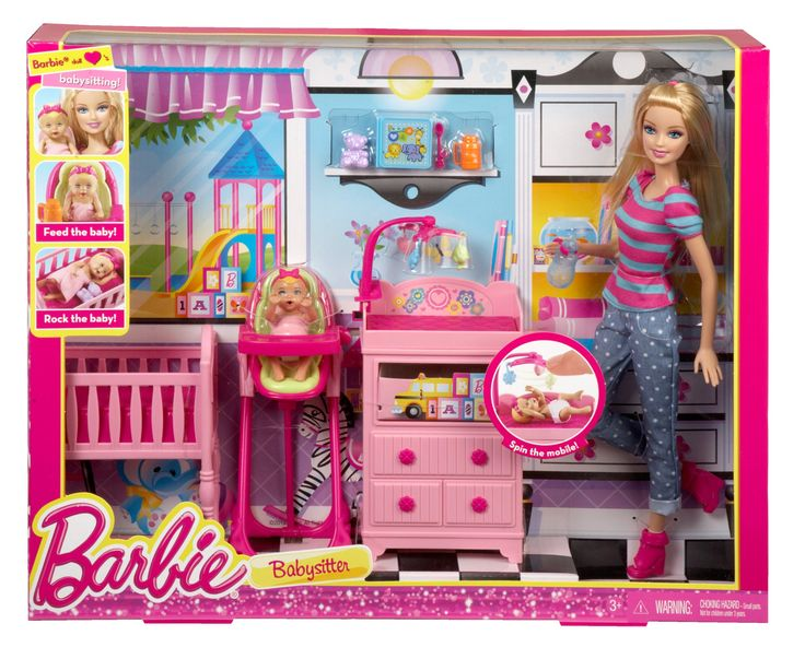 Amazon Com Barbie Careers Babysitter Doll And Playset