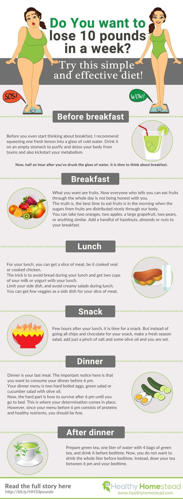 I like this ** Want to lose 10 pounds fast without starving? It is possible. In this infographi...