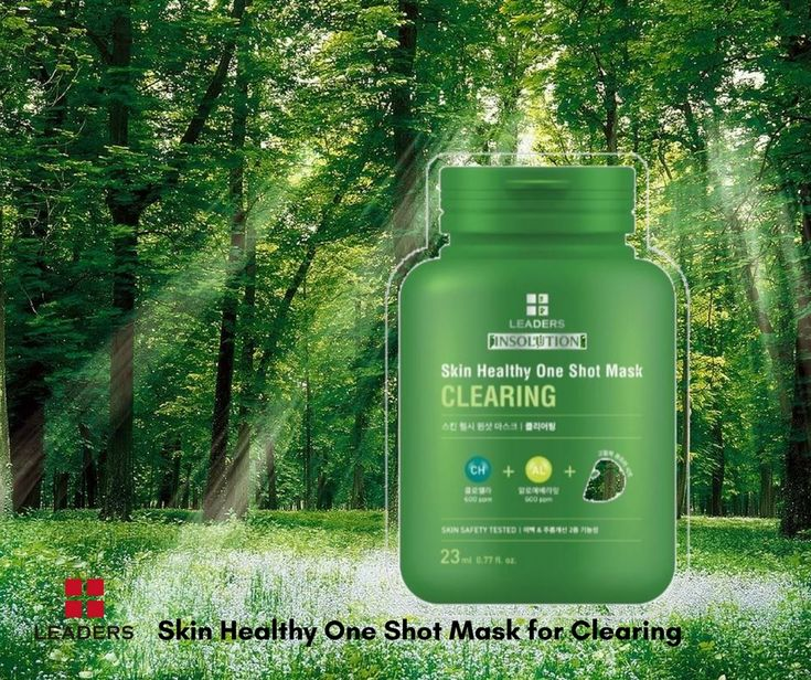 Skin Healthy One Shot Mask for Clearing contains green algae that are enriched with essential amino acids, vitamins, and beta-carotene that help to make skin clear. . . . . . #leaderskorea #skingoals #facemask #amust #beautyessentials #beautysecrets