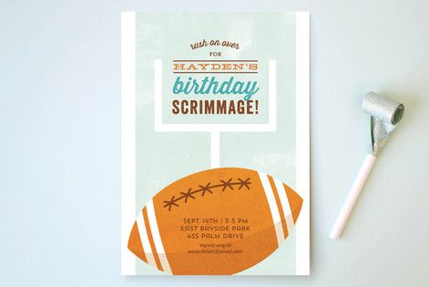 Birthday Scrimmage Children's Birthday Party Invitations by Kimberly Morgan at minted.com