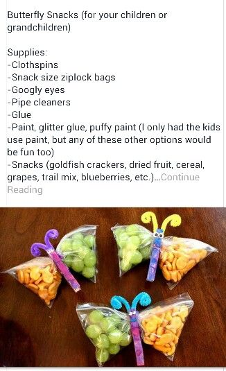 Butterfly craft/snack