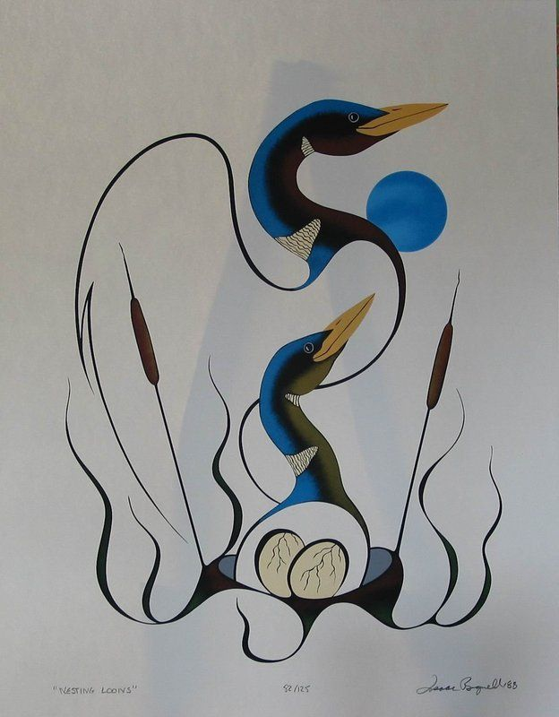 isaac bignell canadian aboriginal artist nesting loon