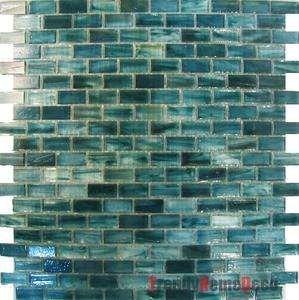 1sf Blue Recycle Glass Mosaic Tile Backsplash Kitchen Wall Sink Bath