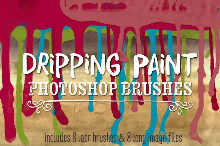 Dripping Paint Photoshop Brushes - Dripping Paint Clip Art & Digital Stamps Watercolor Paint Brushes by Robyn Gough Designs on Etsy