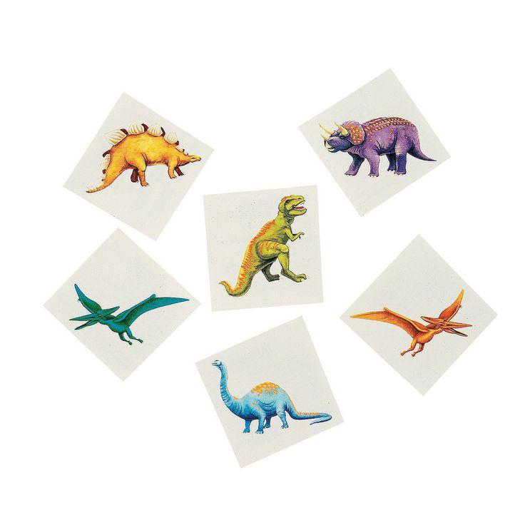 Cool Dinosaur Tattoos - OrientalTrading.com.  $5.00 for 6 dozen (72)
