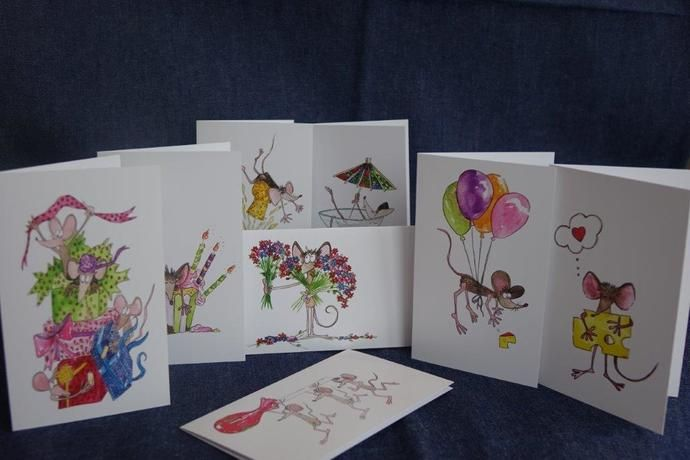Greeting Cards by Fred and Mia, $5.00 USD