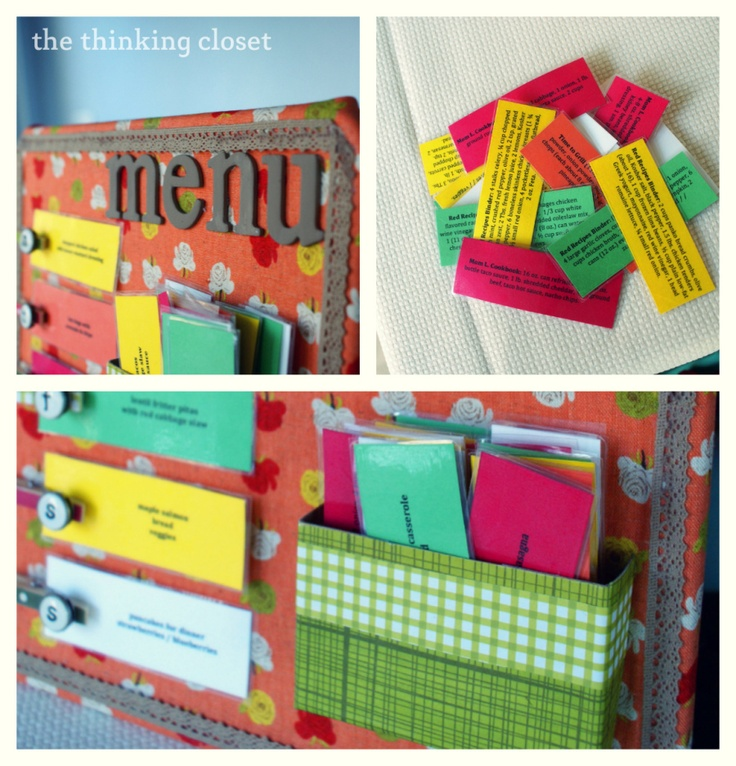 Another take on a menu planning system