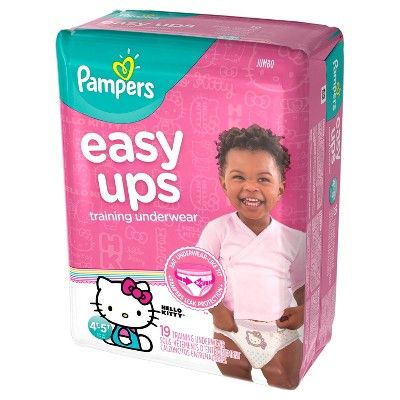 Pampers Easy Ups Girls Training Pants Jumbo Pack, Size 4T-5T (19 ct), Variation Parent