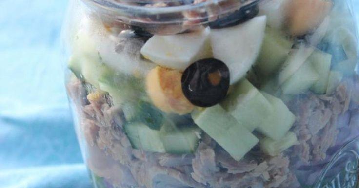Salade niçoise in a jar