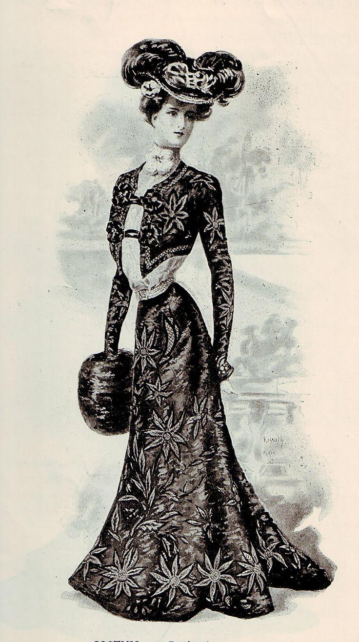 1900 French Fashion Vintage Ephemera Fashion And