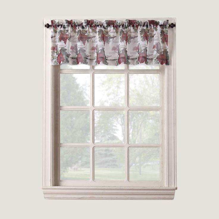 918 wine country rod pocket window valance