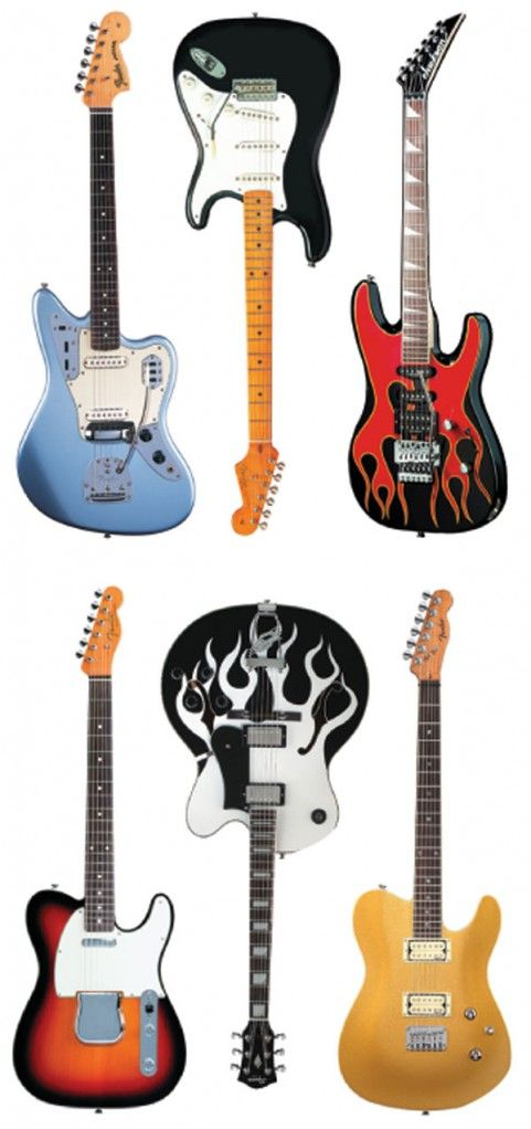 In the Fender vs. Gibson debate, I tend to side with Fender. Because, number one: Kurt Cobain played Fender, usually, and two: I just really love their designs.