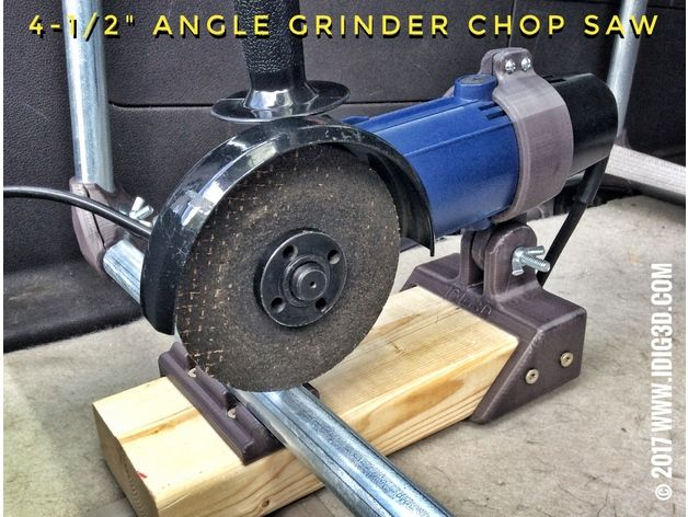 Made a chop saw for EMT conduit with a $10 angle grinder