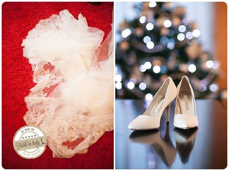 Ph Fuorifuocostudio http://www.brideinitaly.com/2012/12/real-wedding-un-matrimonio-natalizio.html #italianstyle