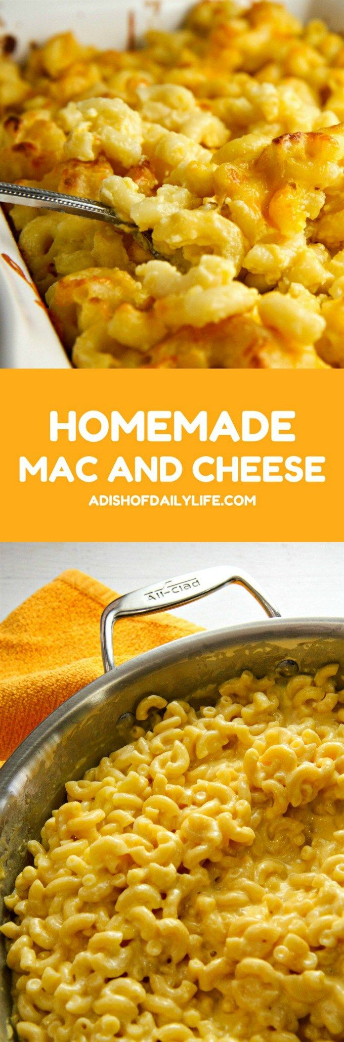 Always a crowd favorite, this Homemade Mac and Cheese recipe is a comfort food classic! Quick and easy to make, with only 5 ingredients, it's perfect for potlucks or a weeknight dinner.