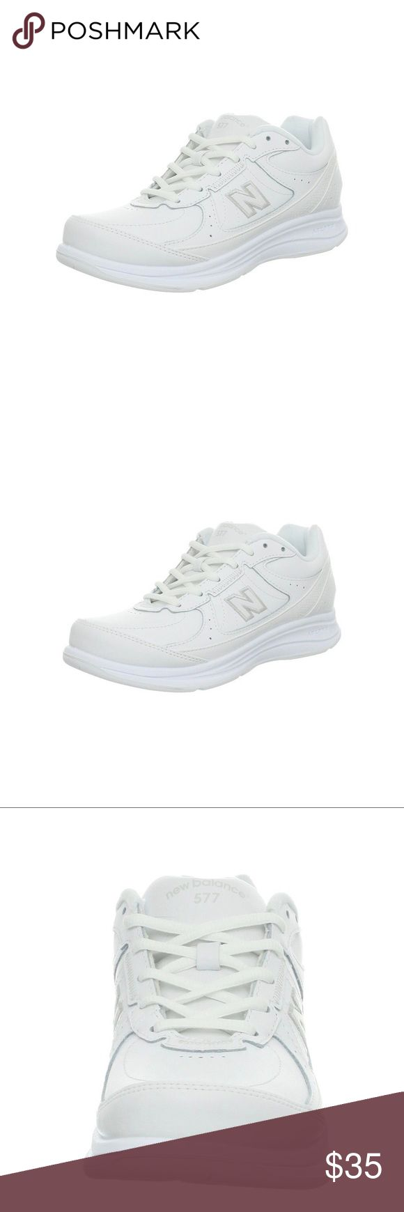 New Balance Women's WW577 Walking Shoe This sneaker is not only made for walking, the WW577 from New Balance is also made to keep you comfortable. The supple leather upper is both breathable and durable, plus two hook-and-loop adjustable straps ensure a nice snug fit. But it's when you stack up the miles that the true beauty of this shoe becomes evident, with cushioning at the insole and heel, plus a high-performance outsole for maximum traction on and off the trail. New Balance Shoes…