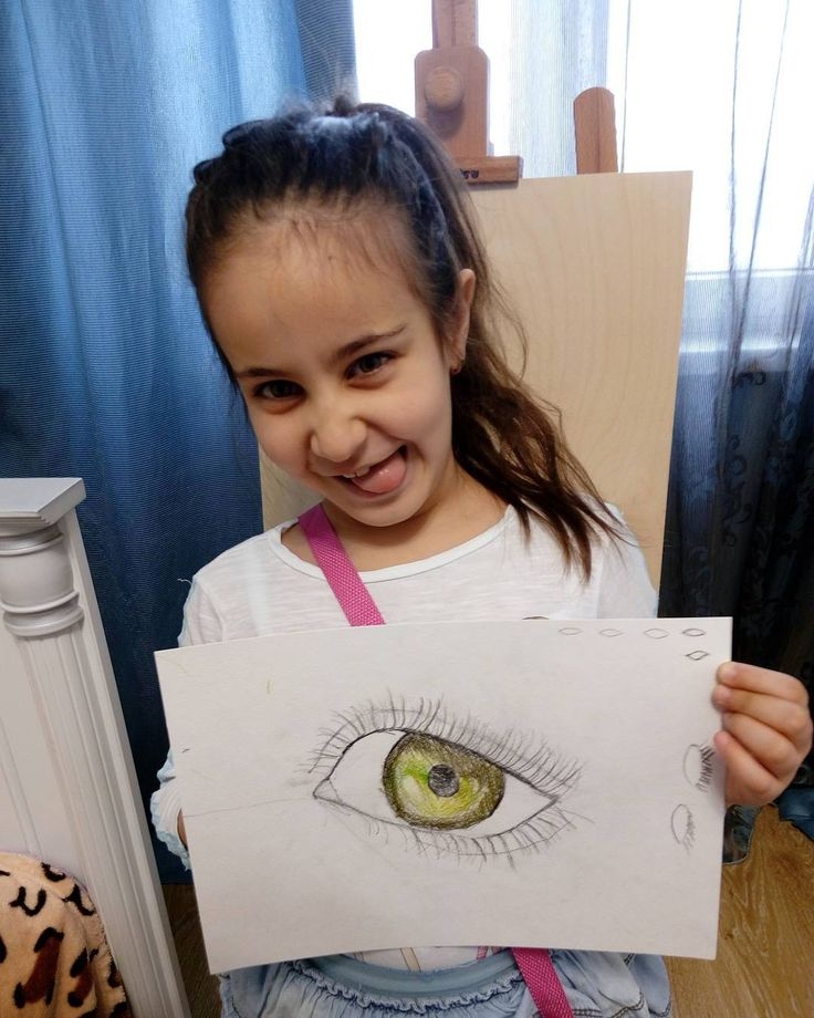 Полина, 6 лет. Урок рисования. #урок #рисунки #графика #дети #искусства #уроки