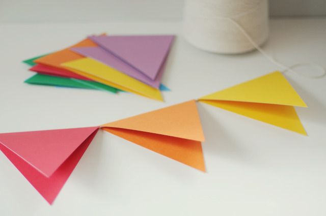 DIY: Making a Paper Party Banner
