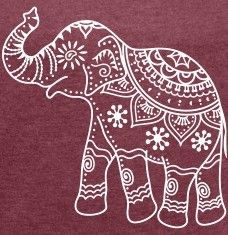 indian elephant outline - Google Search