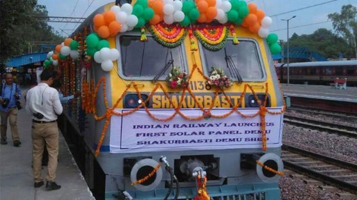 Η Ινδία παρουσιάζει το πρώτο ηλιακό τρένο