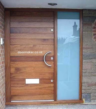 contemporary door and frame sidelight