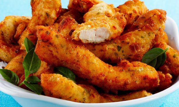 Receita de Iscas de frango empanadas na cerveja - Frango - Dificuldade: Fácil - Calorias: 491 por porção