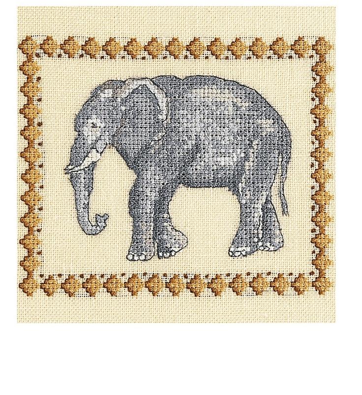 Free Elephant Cross Stitch Pattern