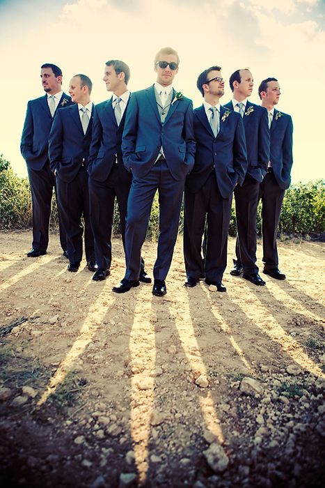Groom picture. Would also be a super cute bridesmaids picture