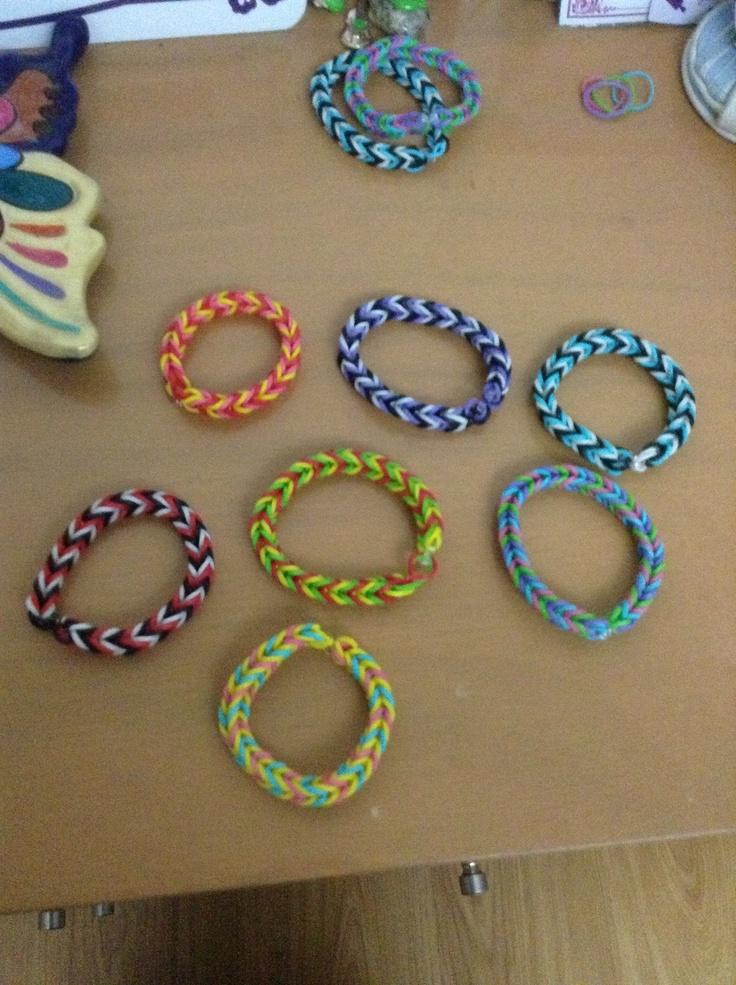 What Is Rubber Made Of >> Pulseras de ligas | Bracelets | Pinterest