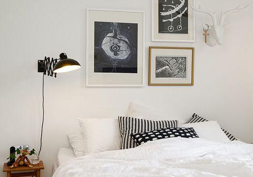 Decoración dormitorio nórdico black and white • Nordic bedroom, Avlhem