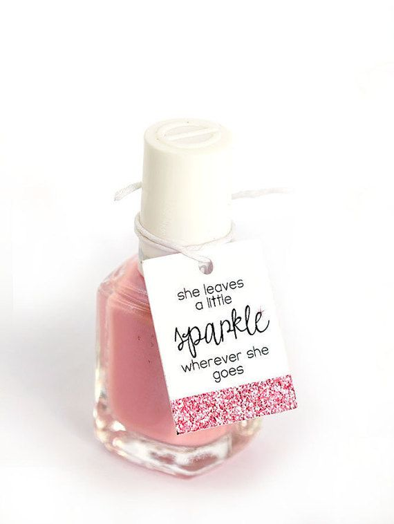 Nail Polish Favor Tags Thank You Favor Tags by PinkFoxPapercrafts