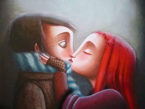 besos pareja